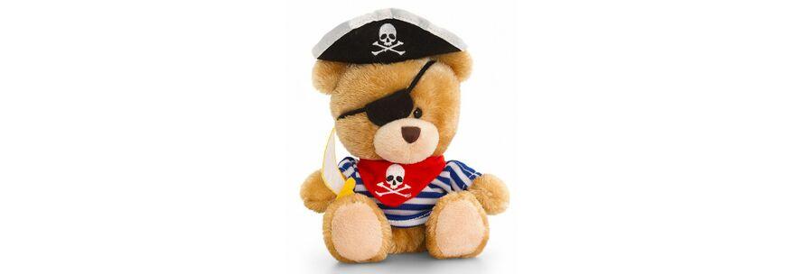 Piraten Bär mit T-Shirt, Kuscheltier ca. 14 cm
